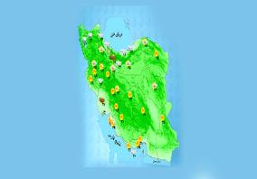 رگبار باران و رعد و برق در اغلب استانها